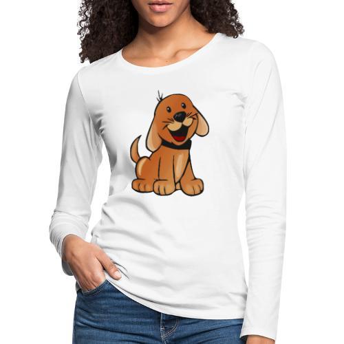 cartoon dog - Maglietta Premium a manica lunga da donna