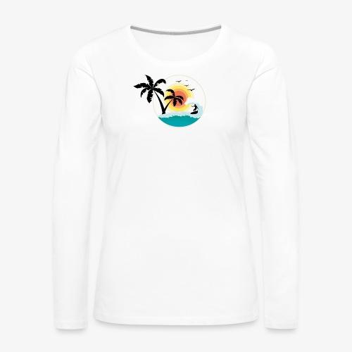 Surfing in paradise - Frauen Premium Langarmshirt