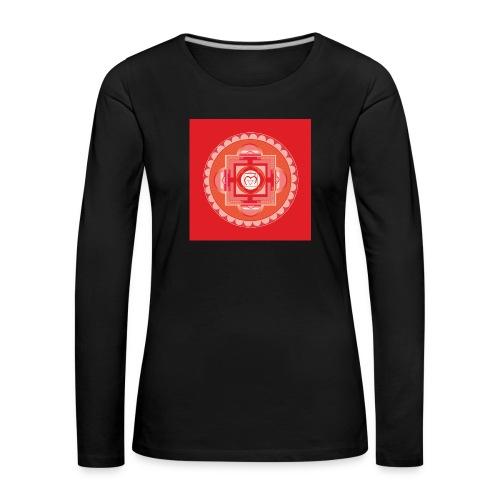 Muladhara - Root Chakra - Naisten premium pitkähihainen t-paita