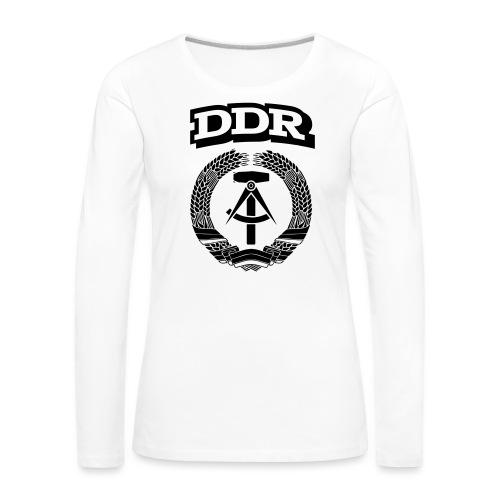 DDR T-paita - Naisten premium pitkähihainen t-paita