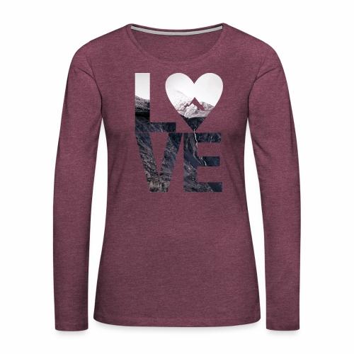 L.O.V.E - Mountains - Frauen Premium Langarmshirt