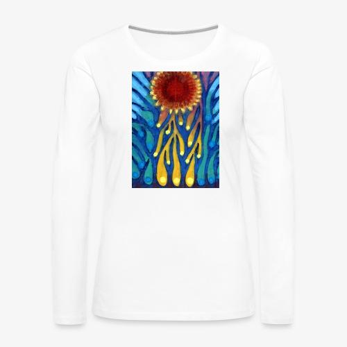 Chore Słońce - Koszulka damska Premium z długim rękawem