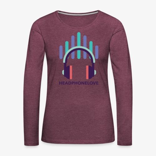 headphonelove - Frauen Premium Langarmshirt