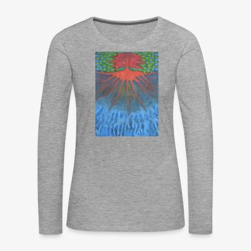 Drzewo Źycia - Koszulka damska Premium z długim rękawem