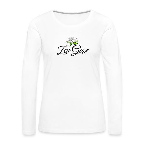 Zen Girl -Lotus Blomma - Prima Vera Design - Långärmad premium-T-shirt dam