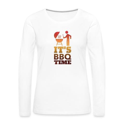 It's BBQ Time - Vrouwen Premium shirt met lange mouwen