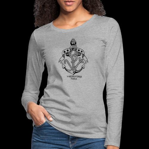 VP Ankkuri - Naisten premium pitkähihainen t-paita