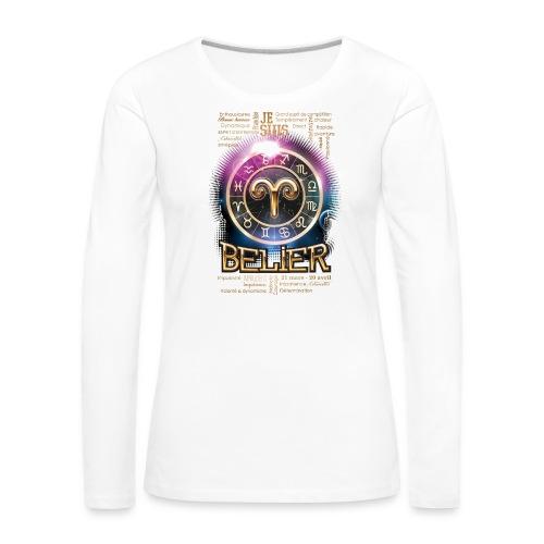 BELIER - T-shirt manches longues Premium Femme