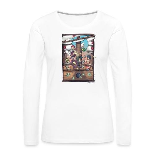 les pirates - T-shirt manches longues Premium Femme