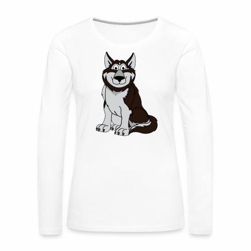 Husky - Frauen Premium Langarmshirt
