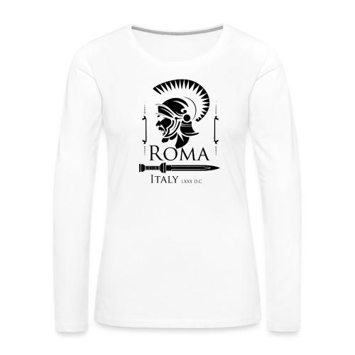 Legionario Romano con Elmetto - Maglietta Premium a manica lunga da donna