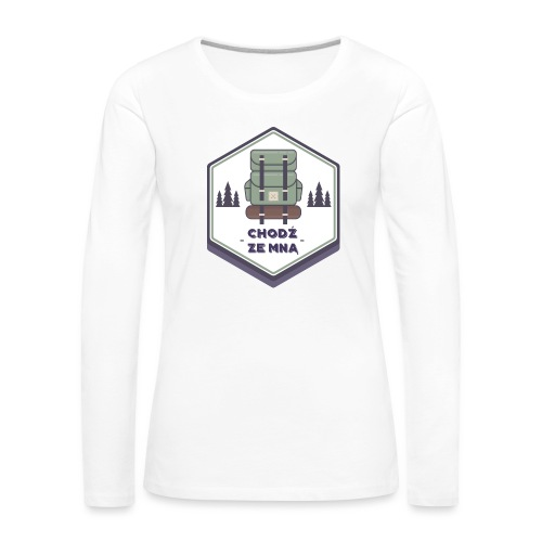 Górska wycieczka - Koszulka damska Premium z długim rękawem