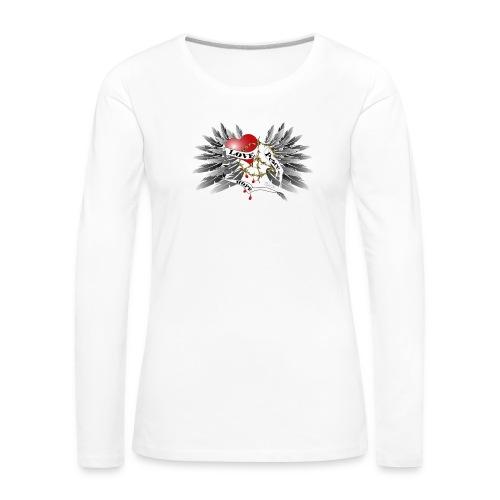 Love, Peace and Hope - Liebe, Frieden, Hoffnung - Frauen Premium Langarmshirt