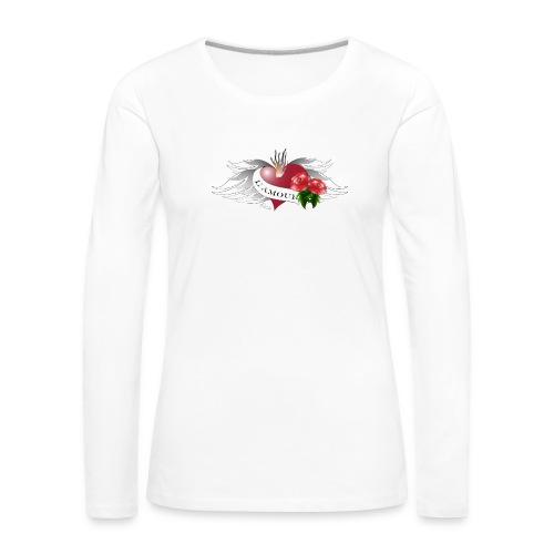 L' Amour - Die Liebe - Frauen Premium Langarmshirt