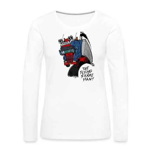 The flying skane man - Vrouwen Premium shirt met lange mouwen