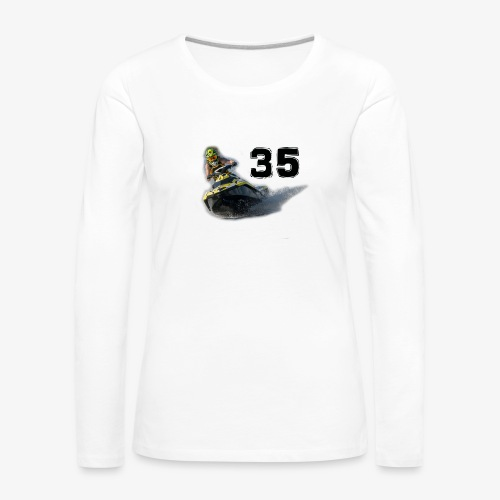 jetski35 - Naisten premium pitkähihainen t-paita