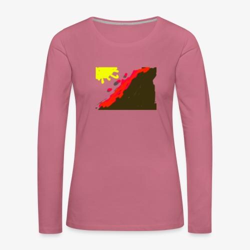 flowers - Dame premium T-shirt med lange ærmer