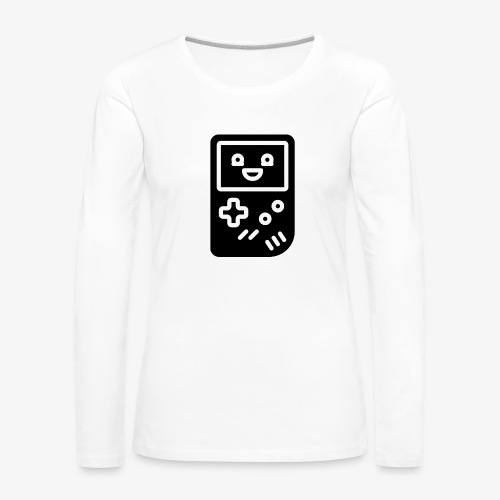 Smiling game console (black, inverted) - Women's Premium Longsleeve Shirt