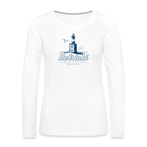 HELSINKI HARMAJAN MAJAKKA - Tekstiilit ja lahjat - Naisten premium pitkähihainen t-paita