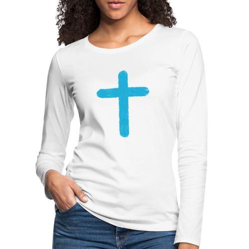 Blue cross - Camiseta de manga larga premium mujer