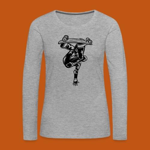 Skater / Skateboarder 03_schwarz - Frauen Premium Langarmshirt