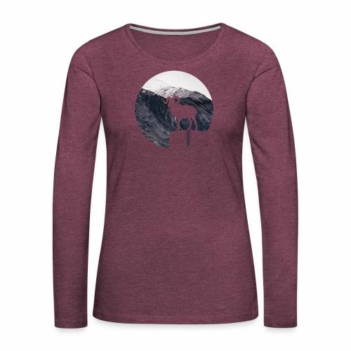 Hiking Outdoor Design mit Bergziege - Bergpanorama - Frauen Premium Langarmshirt