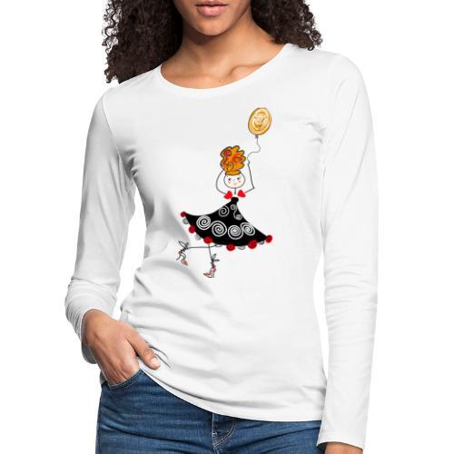 Ballerina con palloncino - Maglietta Premium a manica lunga da donna