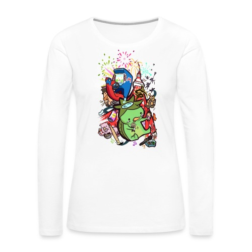 t shirt design best of 2012 by toen d5qaap9 png - Vrouwen Premium shirt met lange mouwen