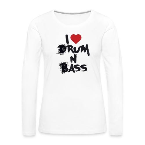 I <3 Rum N Ass - T-shirt manches longues Premium Femme