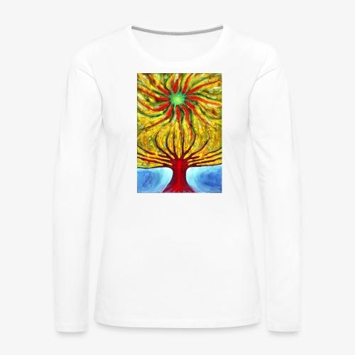 Green Sun - Koszulka damska Premium z długim rękawem