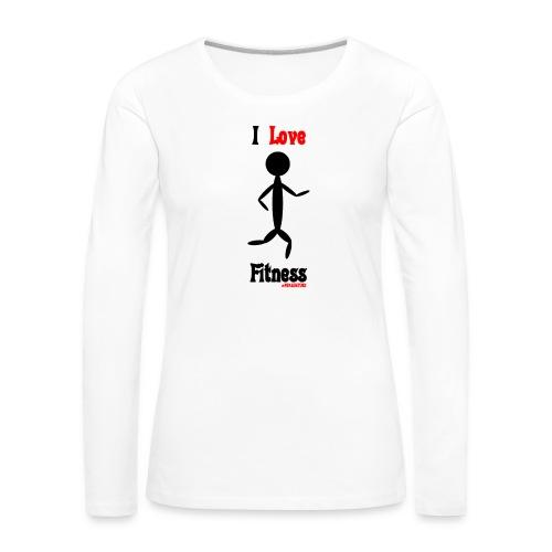 Fitness #FRASIMTIME - Maglietta Premium a manica lunga da donna