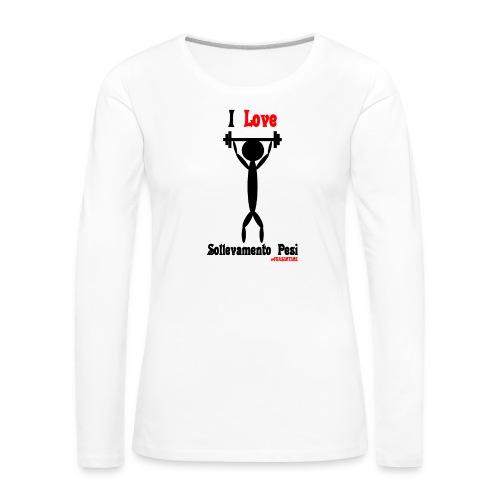 Sport #FRASIMTIME - Maglietta Premium a manica lunga da donna