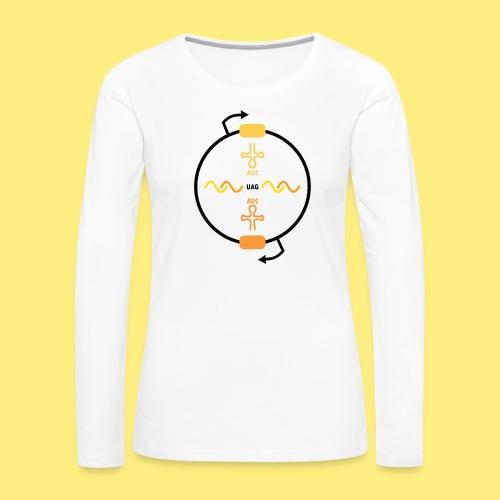 Biocontainment tRNA - shirt men - Vrouwen Premium shirt met lange mouwen