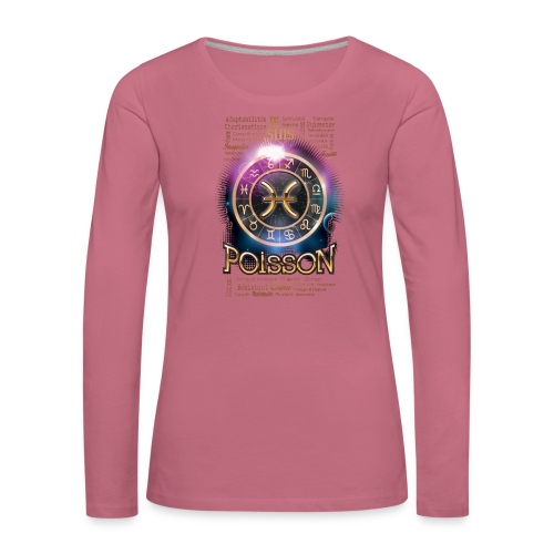 POISSONS - T-shirt manches longues Premium Femme