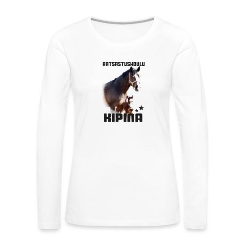Kipinän selkäpainatus - Naisten premium pitkähihainen t-paita