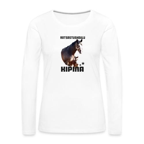 Kipinän t-paita - Naisten premium pitkähihainen t-paita
