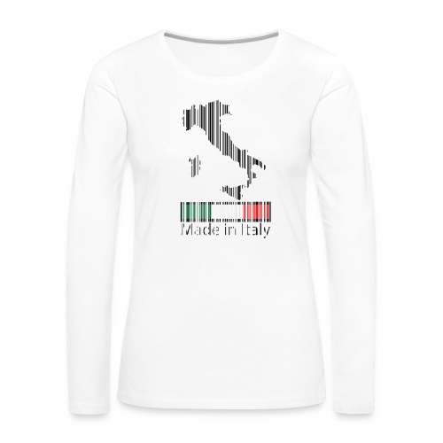 Made in Italy - Maglietta Premium a manica lunga da donna