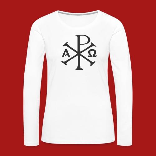 Kompasset-AP - Dame premium T-shirt med lange ærmer