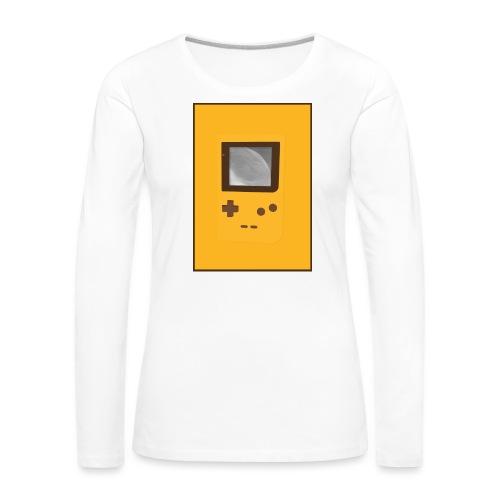 Game Boy Nostalgi - Laurids B Design - Dame premium T-shirt med lange ærmer