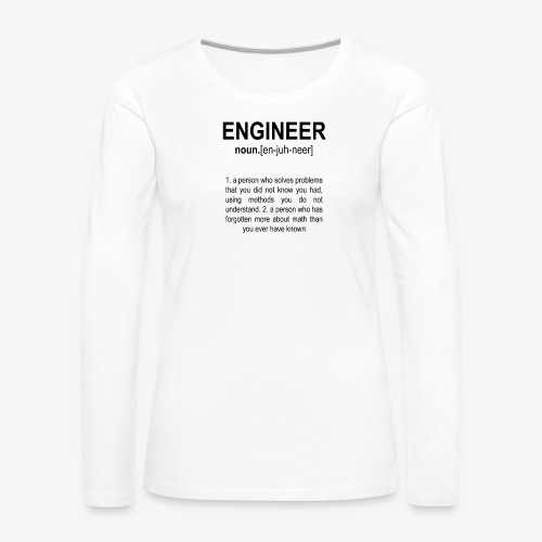 Engineer Def. 2 Black - T-shirt manches longues Premium Femme