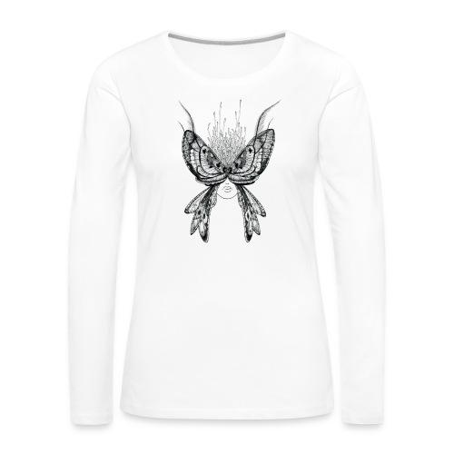 Nachtfalter - Frauen Premium Langarmshirt