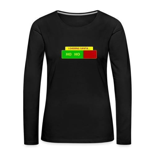 Loading Santa - Naisten premium pitkähihainen t-paita