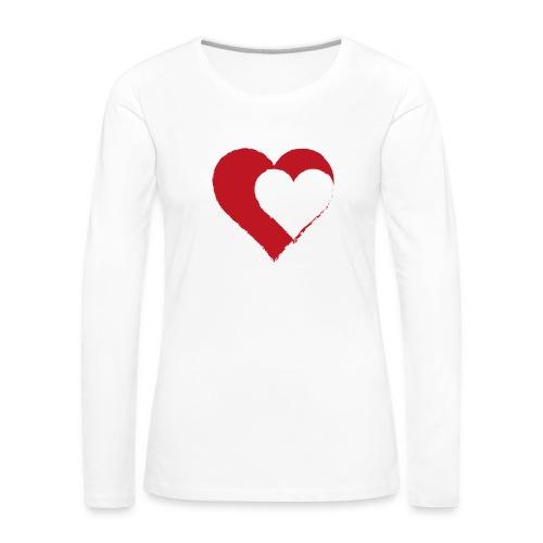 2LOVE - Koszulka damska Premium z długim rękawem