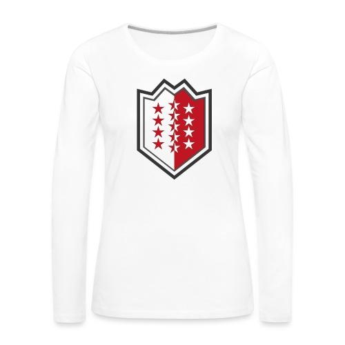 Bouclier moderne du Valais - Frauen Premium Langarmshirt