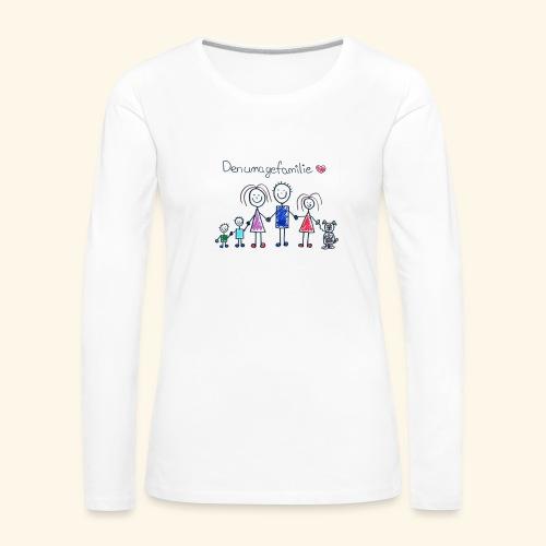 DenUmageFamilie - Dame premium T-shirt med lange ærmer