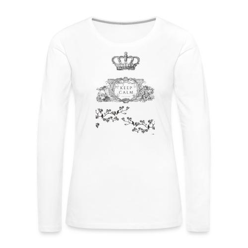 keep calm and kiss me - Camiseta de manga larga premium mujer