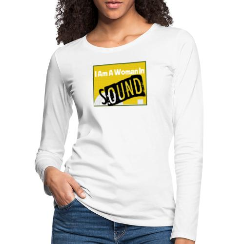 I am a woman in sound - yellow - Women's Premium Longsleeve Shirt