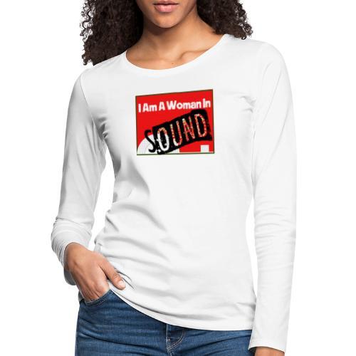 I am a woman in sound - red - Women's Premium Longsleeve Shirt