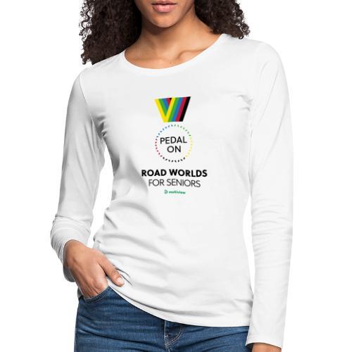 RoadWorlds - Vertical logo - Premium langermet T-skjorte for kvinner