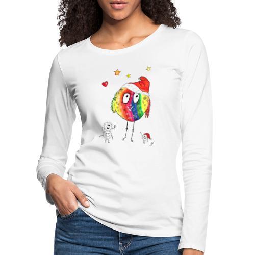 Happy Weihnachtskugelbird - Frauen Premium Langarmshirt
